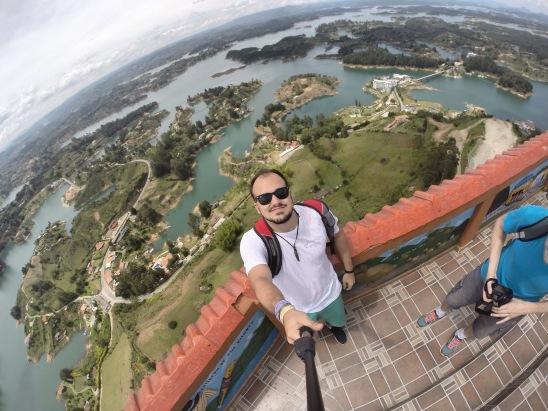 Mirante acima do El Peñol - Richard Oliveira - Vida de Mochila
