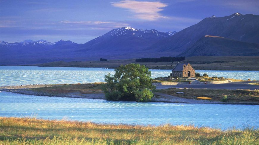 Church of Good Shepherd on Lake Tekapo on South Island of New Zealand